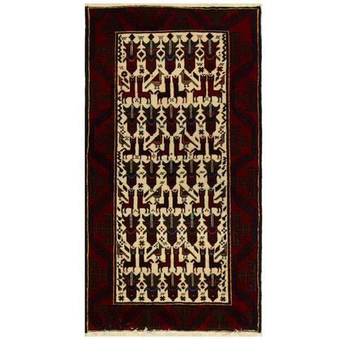 Handmade Balouchi Wool Rug (Iran) - 3'3 x 6'