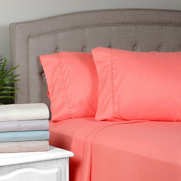 Journee Home 'Emma' Embossed Brushed Microfiber Sheet Set