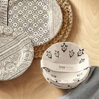 TAG Henna Bamboo Melamine Bowl Set of 4