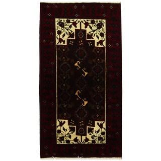 Herat Oriental Persian Hand-knotted Tribal Balouchi Wool Runner - 3'8 x 6'8