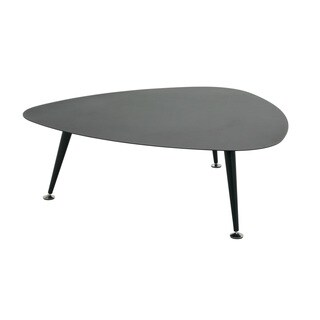 Studio Designs Home Black Steel Trilateral Accent Table