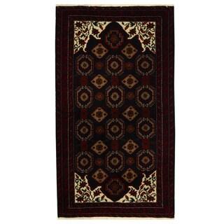 Herat Oriental Persian Hand-knotted Tribal Balouchi Wool Runner - 3'7 x 6'5