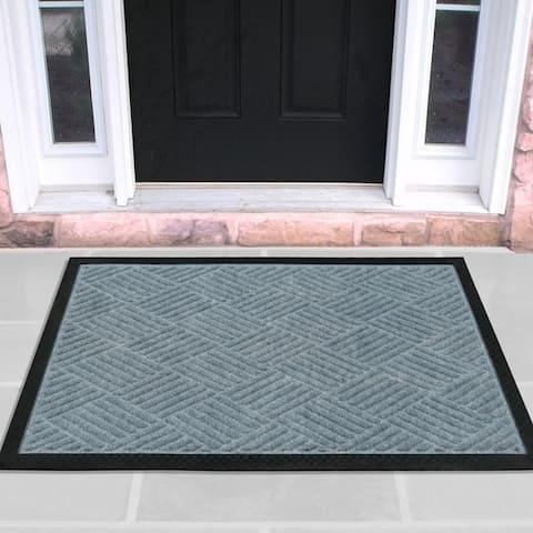 DirtOff Ribbed Carpet Natural Rubber Door Mat