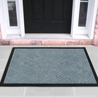 Ottomanson Ribbed Carpet Natural Rubber Door Mat