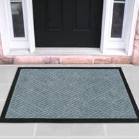 Ottomanson Ribbed Carpet Natural Rubber Door Mat