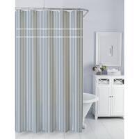 Homewear Sunny Day Seersucker Navy Shower Curtain