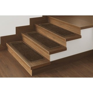 "Softy Solid Brown Non-Slip Stair Treads (Set of 14) (9""x26"") - 9"" x 26"""