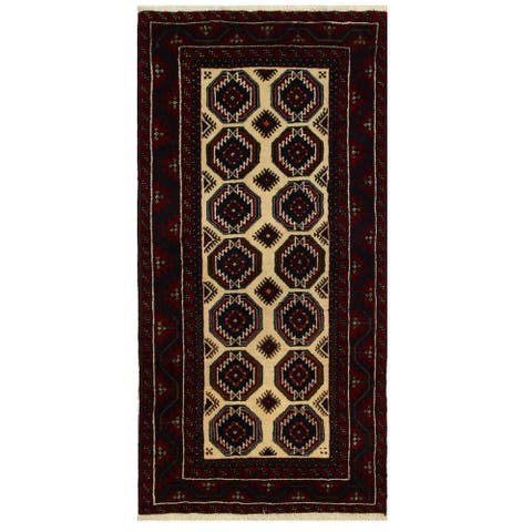 Handmade One-of-a-Kind Balouchi Wool Runner (Iran) - 3'1 x 6'4