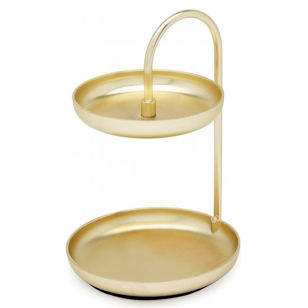 Umbra 104 Poise Gold Metal Small Tiered Ring Holder Free