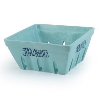 Signature Housewares 7-Inch Strawberry Basket, Aqua