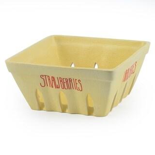 Signature Housewares 7-Inch Strawberry Basket, Yellow
