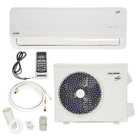 18,000 BTU 1.5 Ton Ductless Mini-Split Air Conditioner with Heat Pump 230V/60HZ - White