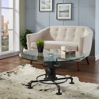 Bronx Metal/Glass Pipe-style Coffee Table