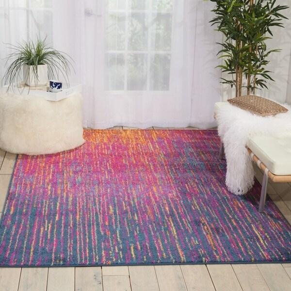 Nourison Passion Multicolor Area Rug 5 3 X 7 3 Free
