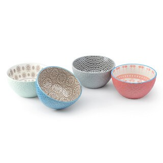 Signature Housewares Design 7 Set of 4 Assorted 6-Inch Bowls
