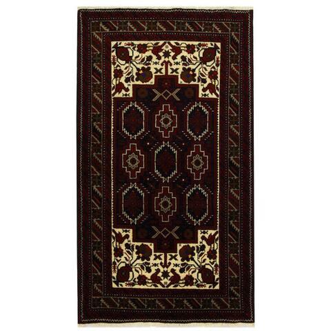 Handmade Balouchi Wool Runner (Iran) - 3'7 x 6'5
