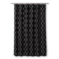 Homewear Wellington Black Shower Curtain