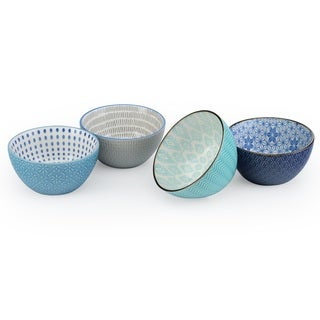 Signature Housewares Design 9 Set of 4 Assorted 6-Inch Bowls