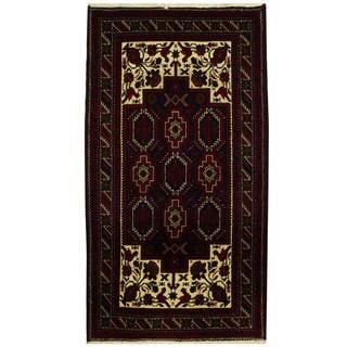 Handmade One-of-a-Kind Balouchi Wool Runner (Iran) - 3'8 x 6'9