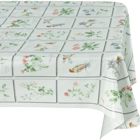 Ottomanson Multicolor Vinyl Indoor and Outdoor Butterfly Tablecloth