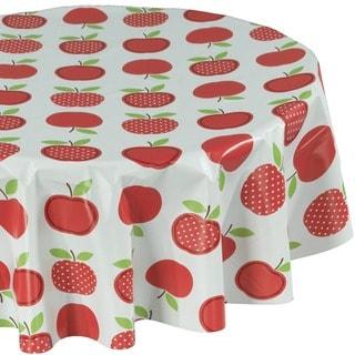 Ottomanson Vinyl 55-inch Round Apple Tablecloth