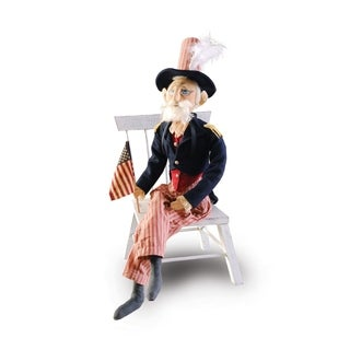 Uncle Sam Joe Spencer Gathered Traditions Art Doll - Blue