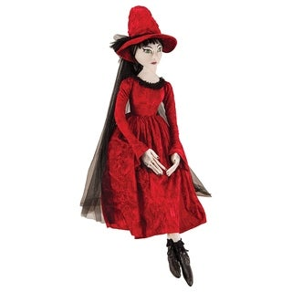 Cassandra Witch Joe Spencer Gathered Traditions Art Doll - Red