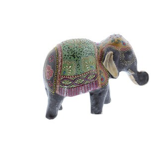 Paper Mache Elephant Figurine