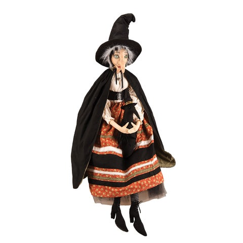 Batilda Witch and Crow Joe Spencer Gathered Traditions Art Doll - Black