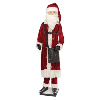 Kingsley Life Size Santa Joe Spencer Gathered Traditions Art Doll - Red