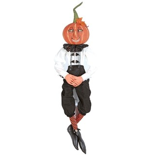 Victor Pumpkin Joe Spencer Gathered Traditions Art Doll - Black