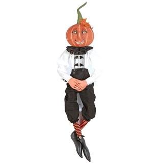 Victor Pumpkin Joe Spencer Gathered Traditions Art Doll - Black