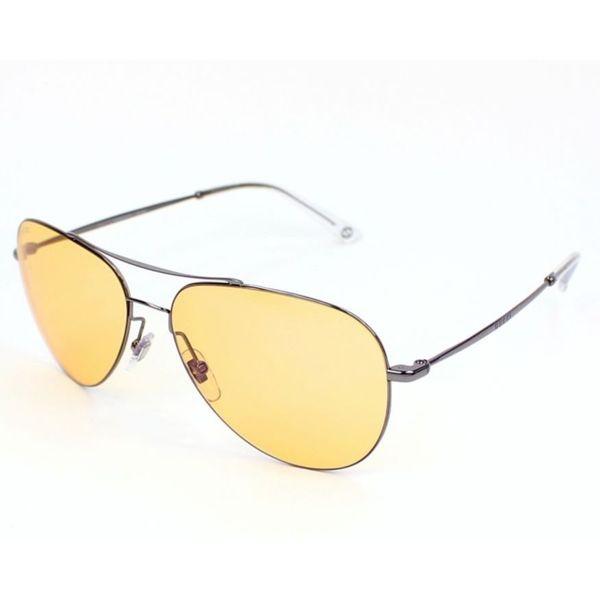 63507d429e1 Shop Gucci  GG 2245 S 6LBHZ  Ruthenium Grey Aviator Sunglasses (As ...