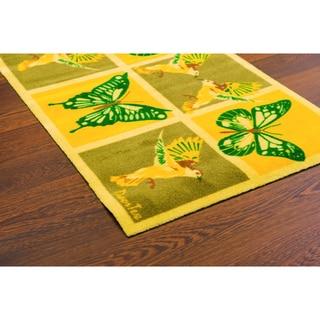 Doortex Rectangular Short Sun Room Runner - Yellow Butterfly (20x30)
