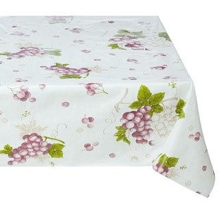 Ottomanson Vinyl 55 x 70-inch Grape Vine Design Indoor/ Outdoor Tablecloth with Non-woven Backing