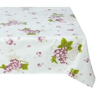 Ottomanson Vinyl 55 x 70-inch Grape Vine Design Indoor/ Outdoor Tablecloth with Non-woven Backing