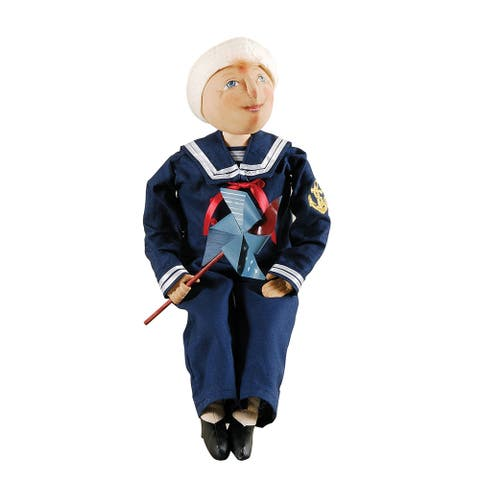 Sid Sailor Boy Joe Spencer Gathered Traditions Art Doll - Blue