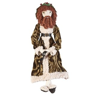 Ghost of Christmas Present Joe Spencer Gathered Traditions Art Doll - Green