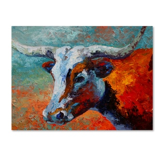 Marion Rose 'Young Longhorn' Canvas Art