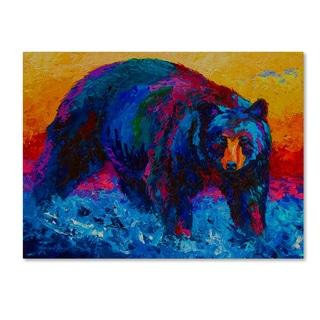Marion Rose 'Scouting Fish Black Bear' Canvas Art
