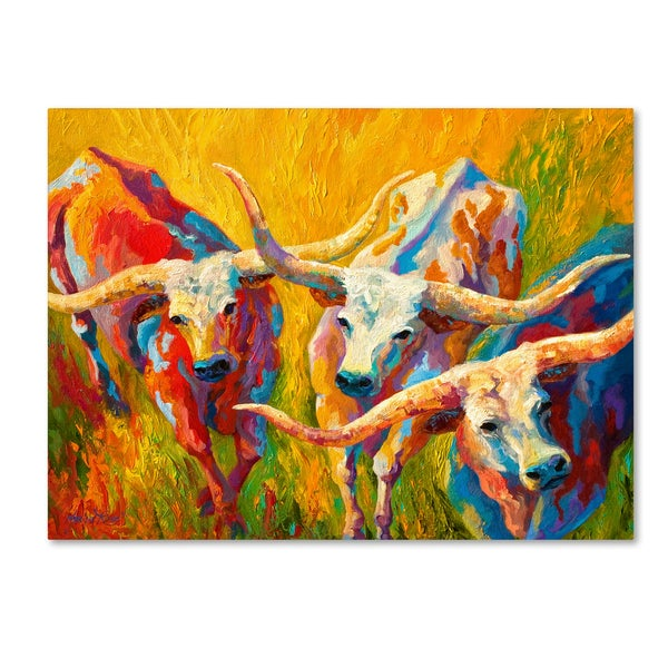 Shop Marion Rose \'Dance of the Longhorns\' Canvas Art - Free Shipping ...