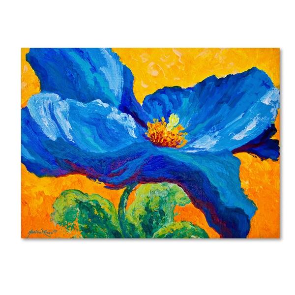 Marion Rose 'Blue Poppy 2' Canvas Art