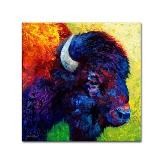 Marion Rose 'Bison Head III' Canvas Art