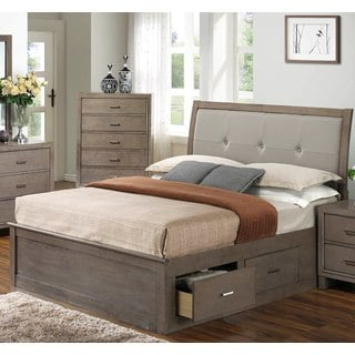 LYKE Home Grey Storage Bed