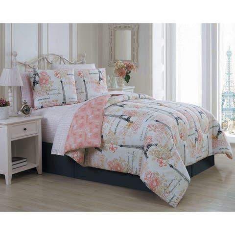 Amour Reversible Paris Themed Bed in a Bag