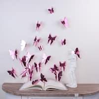 WS1016 - Walplus 3D Butterflies Rose Gold