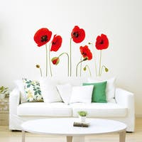 WS5018 - Red Poppy Flowers