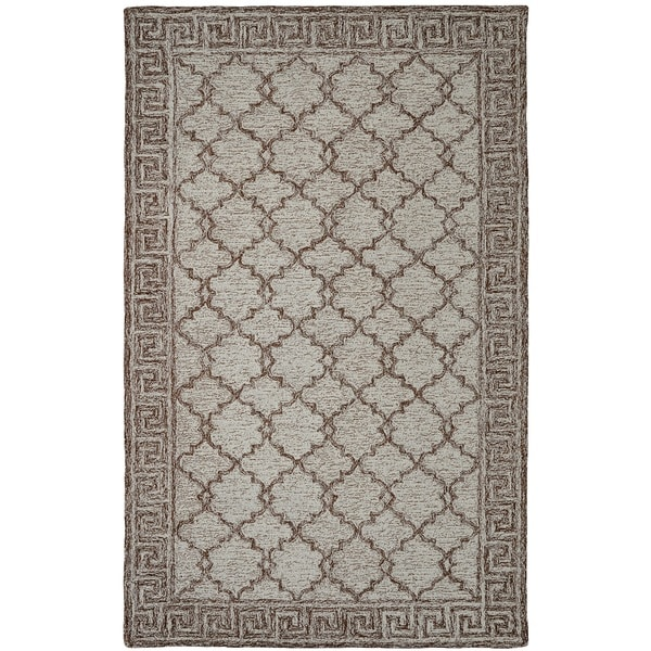 Shop Dynamic Rugs Polar Ivory Brown Wool Cotton Area Rug Free