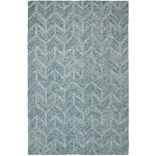 Dynamic Rugs Polar Ivory/Jade Wool and Cotton Area Rug (8' x 11')