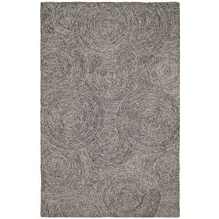 Dynamic Rugs Polar Ivory/Black Cotton and Wool Area Rug (8' x 11')